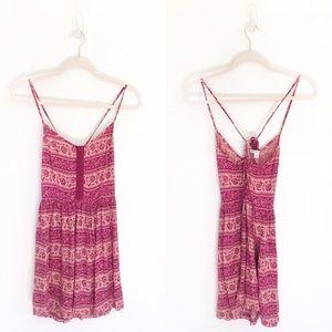 American Eagle Patterned Boho Style Mini Dress